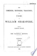 The Comedies  Histories  Tragedies  and Poems of Wm  Shakspere Book
