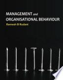 MANAGEMENT & ORGANIZATIONAL BEHAVIOUR