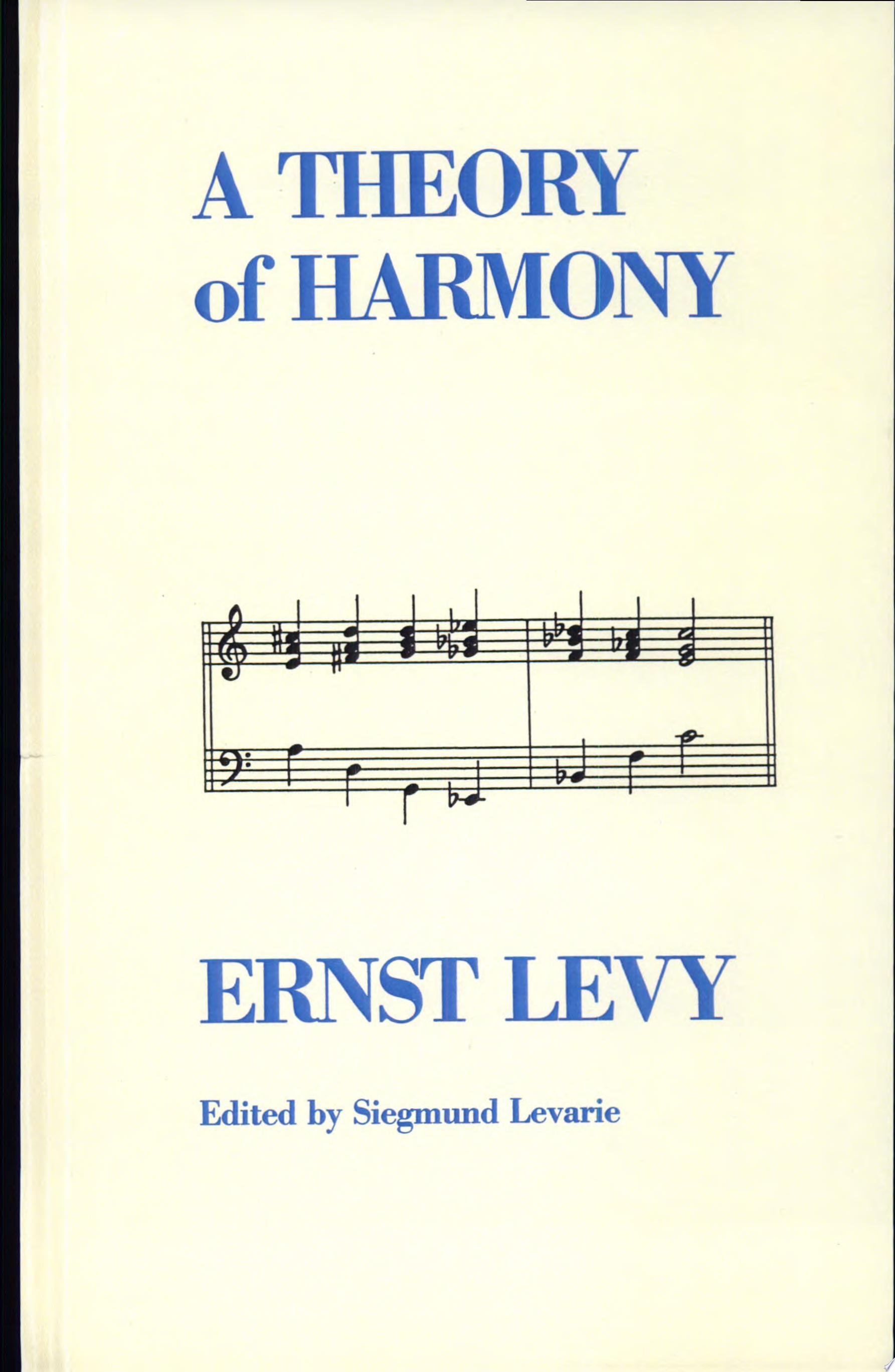 Theory of Harmony  A