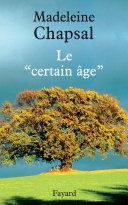 Pdf Le « certain âge » Telecharger