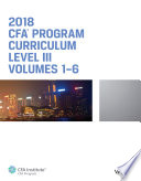 CFA Program Curriculum 2018 Level III Book