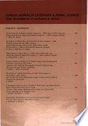 Turkish journal of veterinary & animal sciences