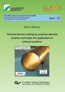Thermal Barrier Coating by Polymer derived Ceramic Technique for Application in Exhaust Systems
