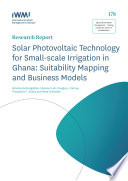Solar photovoltaic technology for small scale irrigation in Ghana