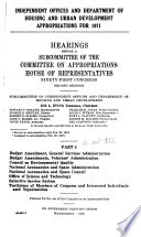 Independent Offices and Department of Housing and Urban Development Appropriations for 1971