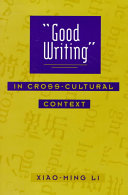 Good Writing in Cross-Cultural Context