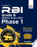 Guide to RBI Grade B Officers Phase I Exam 2020 - 4th Edition