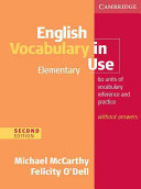 English Vocabulary in Use Elementary Edition Without Answers