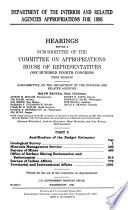 Department of the Interior and Related Agencies Appropriations for 1996  Justification of the budget estimates  Geological Survey