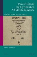 Bovo d'Antona by Elye Bokher. A Yiddish Romance