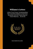 Helen Maria Williams Books, Helen Maria Williams poetry book