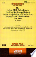The Infant Milk Substitute, Feeding Bottles and Infant Foods (Regulation of Production, Supply and Distribution) Act, 1992