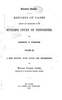 Reports of Cases Argued and Determined in the Supreme Court of Tennessee