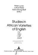 Studies in African varieties of English