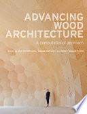 Advancing Wood Architecture Book