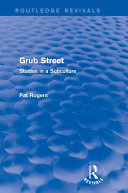 Grub Street (Routledge Revivals) Pdf/ePub eBook