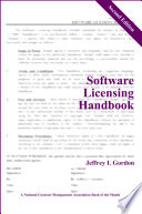 Software Licensing Handbook, Second Edition
