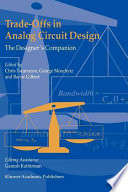Trade Offs In Analog Circuit Design Book PDF