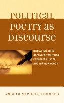 Pdf Political Poetry as Discourse Telecharger