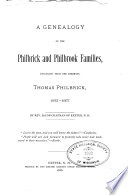 A Genealogy of the Philbrick and Philbrook Families