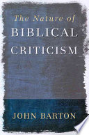 The Nature Of Biblical Criticism