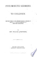 Five minute Sermons to Children