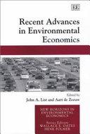 Recent Advances in Environmental Economics
