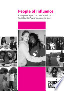 People of Influence  A progress report on the Council on Social Action s work on one to one