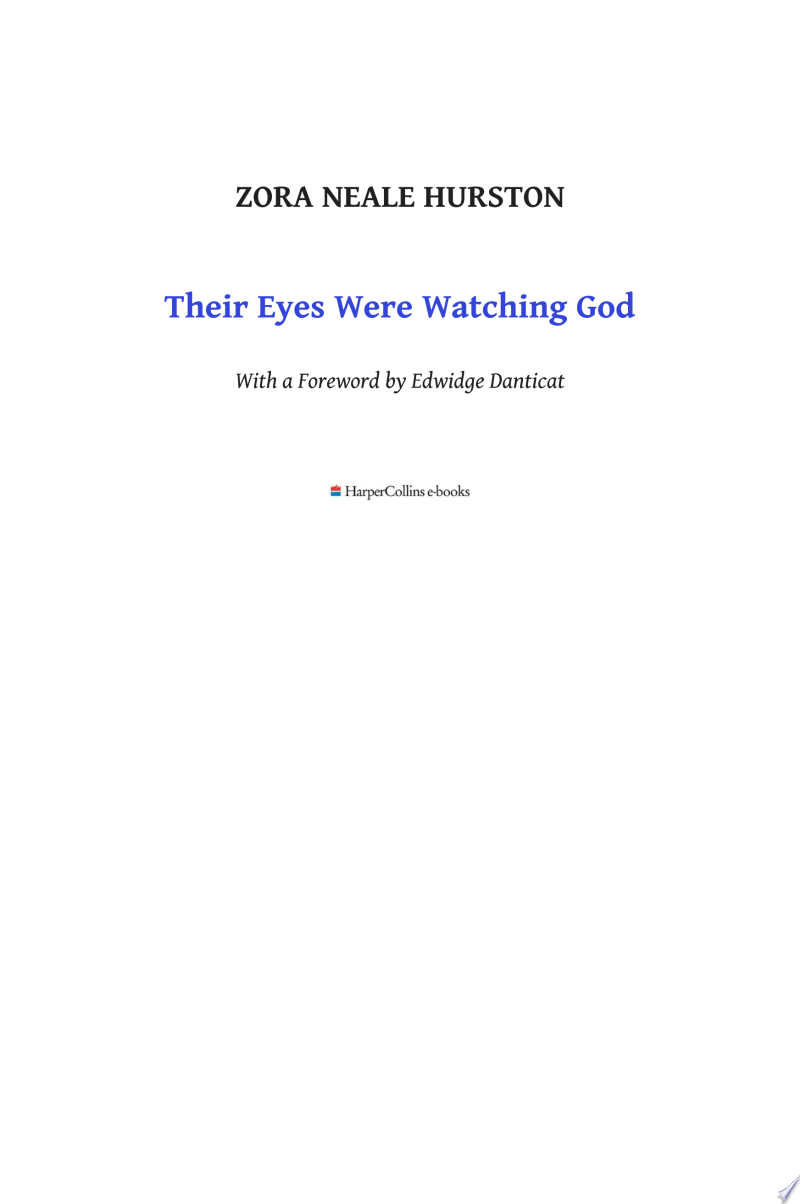 Their Eyes Were Watching God image