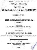 Critical Pronouncing Dictionary and Expositor of the English Language