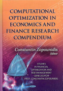 Computational Optimization in Economics and Finance Research Compendium