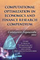 Computational Optimization in Economics and Finance Research Compendium Book