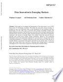 Firm Innovation in Emerging Markets