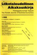 Finnish Journal of Business Economics Book