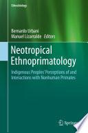 Neotropical Ethnoprimatology