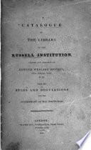 A Catalogue Of The Library Of The Russell Institution