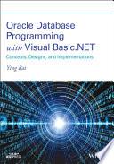 Oracle Database Programming with Visual Basic NET