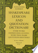 Shakespeare Lexicon and Quotation Dictionary