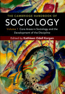 The Cambridge Handbook of Sociology