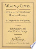 Women Gender In Central And Eastern Europe Russia And Eurasia