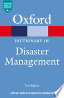 A Dictionary of Disaster Management Book