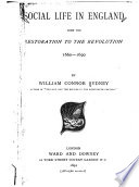 Social Life in England from the Restoration to the Revolution  1660 1690 Book