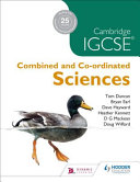 Books - Cam/Ie Combined And Co-Ordinated Sciences | ISBN 9781510402461