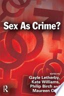 Sex As Crime