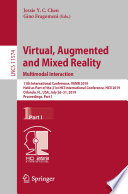 Virtual  Augmented and Mixed Reality  Multimodal Interaction