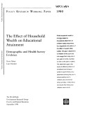 The Effect of Household Wealth on Educational Attainment ebook