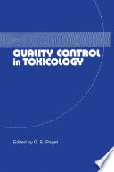 Quality Control in Toxicology