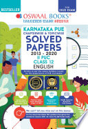 Oswaal Karnataka PUE Solved Papers II PUC English Book Chapterwise   Topicwise  For 2022 Exam