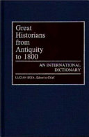Great Historians From Antiquity To 1800
