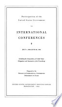 Participation of the United States Government in International Conferences